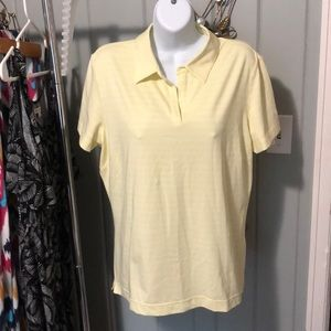 Nike Golf yellow stripe polo size large
